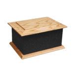 Solid wood glitter ashes casket black