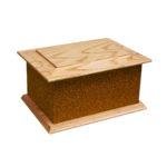 Solid wood glitter ashes casket brown