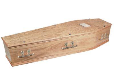 Oakham solid oak coffin